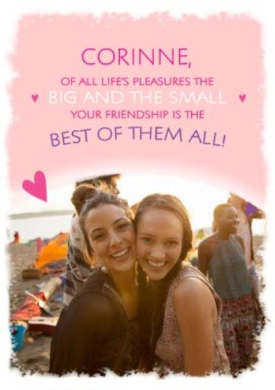 Sentimental Photo upload Birthday card Friendship