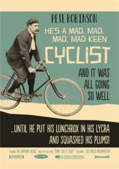 Retro Vintage Cyclist Personalised Happy Birthday Card