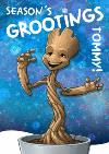 Marvel Guardians Of The Galaxy Groot Personalised Christmas Card