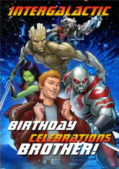 Guardians Evergreen Intergalactic Brother Birthday Card