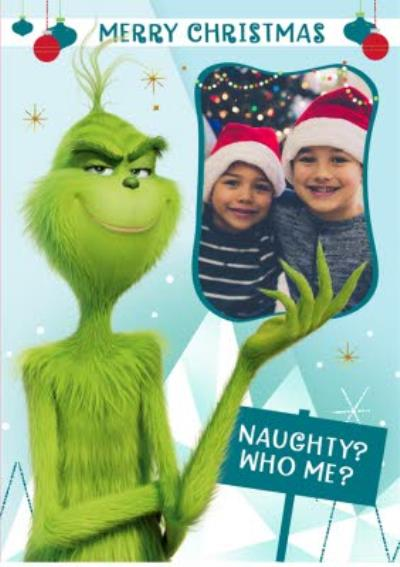 The Grinch Photo Upload Christmas Card