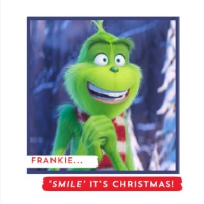 The Grinch Smile Its Christmas Personalised Card