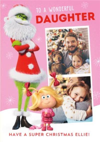 The Grinch Wonderful Daughter Photo Upload Card