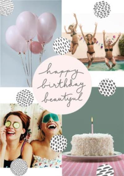 Birthday Card - Graphic Patterns - Photo Upload Postcard