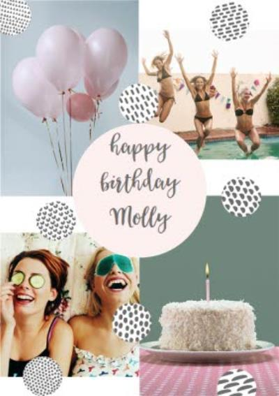 Birthday Card - Graphic Patterns - Photo Upload
