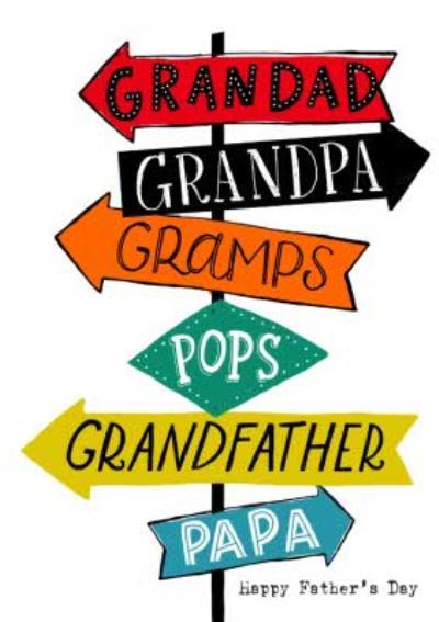 Grandad Sign Card