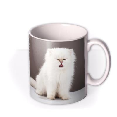 Grey Polka Dot Personalised Text Photo Upload Mug