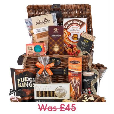 Chocolate Wicker Hamper