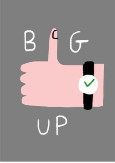 Big Thumbs Up Postcard