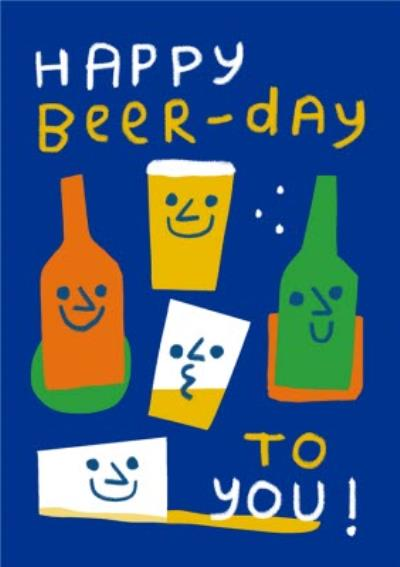 Happy Beer Day Birthday Card For Him Moonpig