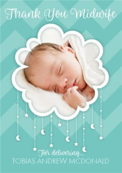 Thank You Midwife Cloud Photo Upload Card