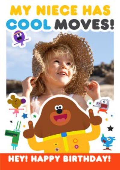 Hey Duggee Niece birthday photo upload card