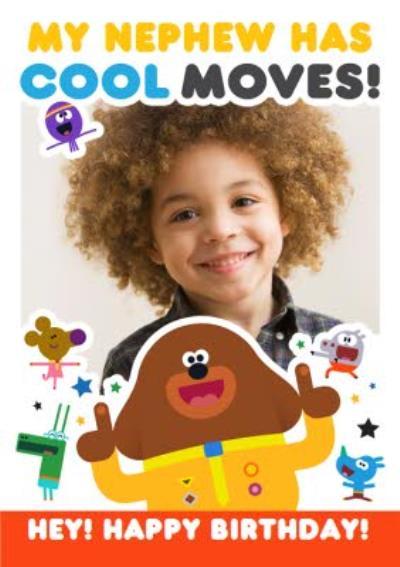 Hey Duggee Nephew birthday photo upload card