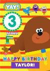 Hey Duggee Kids 3 today Birthday card