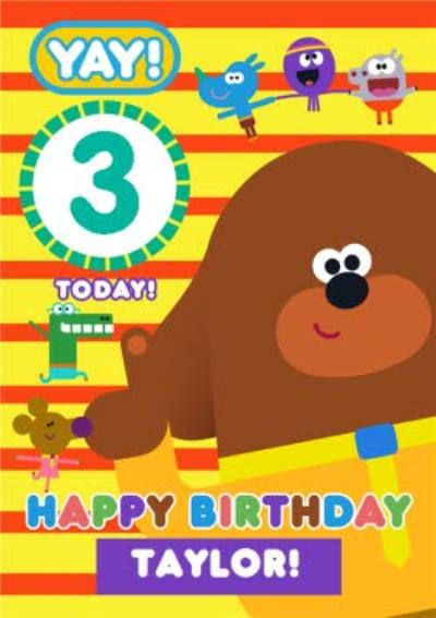 Hey Duggee Kids 3 today Birthday card