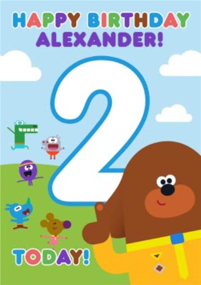Hey Duggee Kids 2 today Birthday card