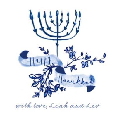 Hand Drawn Happy Hanukkah Personalised Card