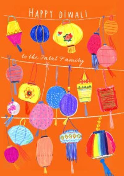 Hand Drawn Personalised Diwali Card