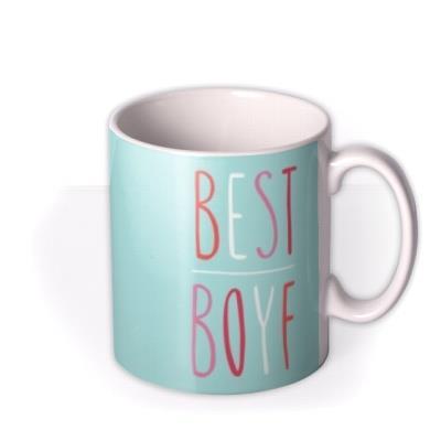 Mint Best Boyf Personalised Photo Upload Mug For Boyfriend