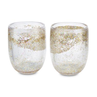 Glitter Wine Glass Set