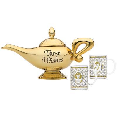 Disney Aladdin Lamp and Glasses Set
