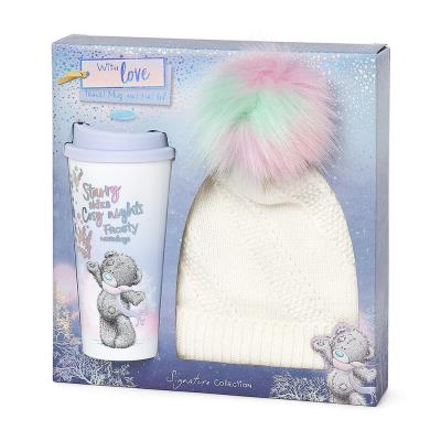 Travel Mug and Bobble Hat