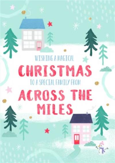 Wishing You a Magical Christmas From Across The Mile Card