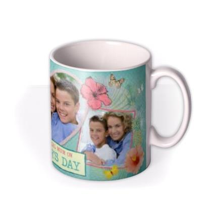 Mother's Day Flowers Photo Upload Mug