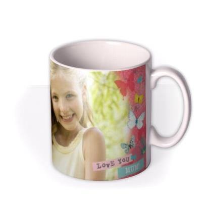 Mother's Day Butterflies Photo Upload Mug