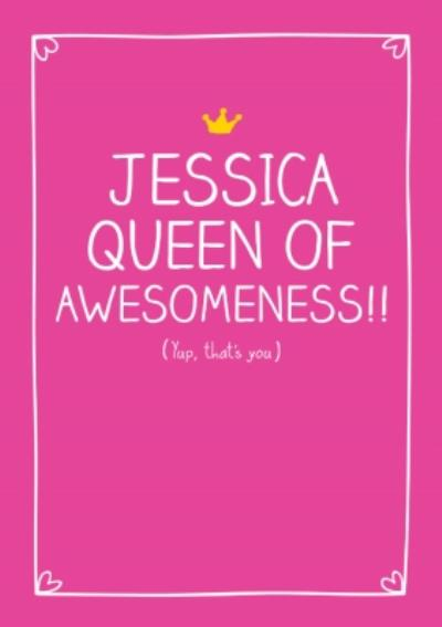 Queen Of Awesomeness Card