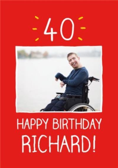Personalised 40th Birthday Card