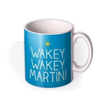 Funny Happy Jackson Wakey Wakey Photo Upload Mug