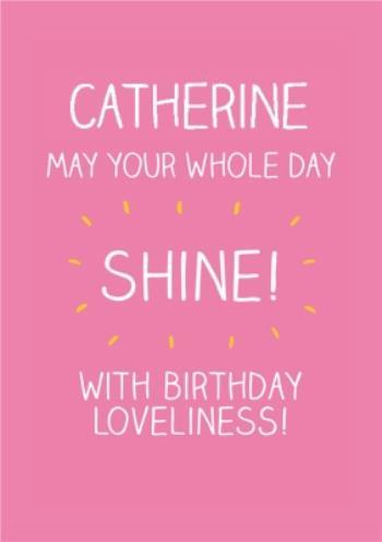 Birthday Card Message Moonpig