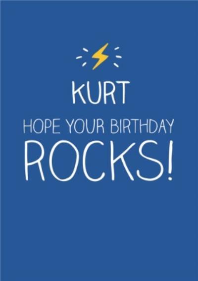 Blue Hope Your Birthday Rocks Personalised Happy Birthday Card