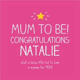 Happy Jackson Personalised Mum To Be Card