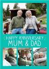 Anniversary Card For Mam & Dad
