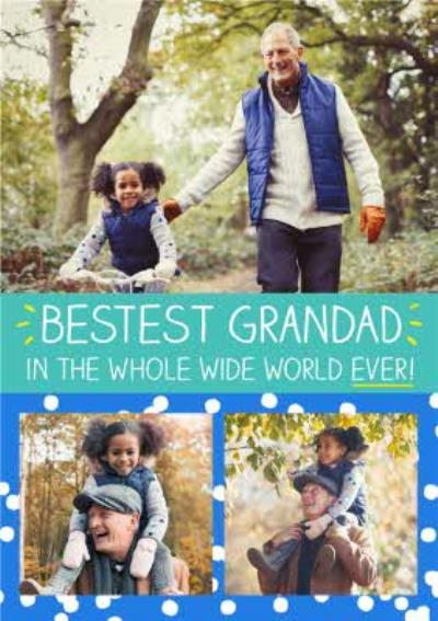 Happy Jackson Bestest Grandad In The Whole Wide World Photo Card