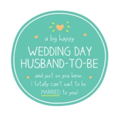 Happy Jackson Husband To Be I Can't Wait To Be Married To You Wedding Card