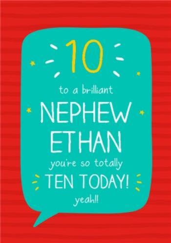 Awe Inspiring Happy Jackson Nephew 10Th Birthday Card Moonpig Personalised Birthday Cards Veneteletsinfo