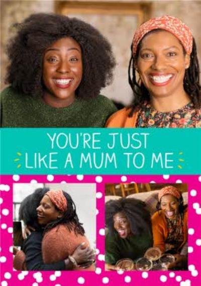 Happy Jackson Photo Upload Card - just like a Mum to me