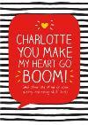 Happy Jackson Heart Go Boom Personalised Card