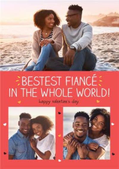 Happy Jackson Bestest Fiance Photo Upload Valentine's Day Card