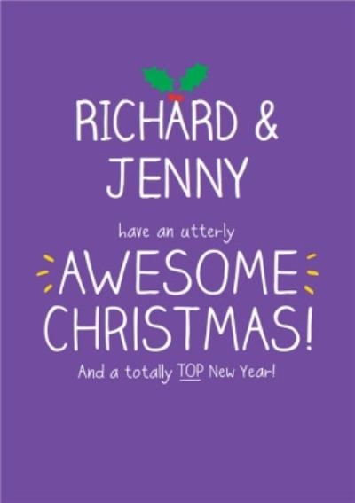 An Utterly Awesome Christmas Personalised Merry Christmas Card