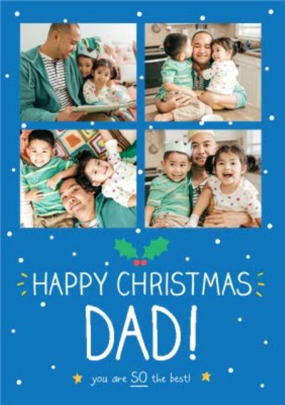 Happy Jackson Photo Upload Christmas Card For Dad, you are So the best!