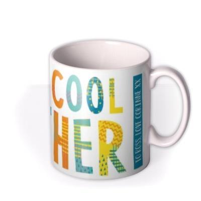 Brightly Patterned Super Brother Custom Text Mug