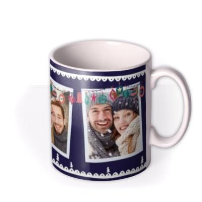 Merry Christmas Couples Bauble Photo Upload Mug