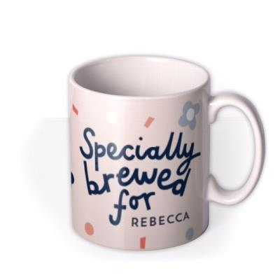 Drink Me Specially Brewed For You Typographic Design Mug
