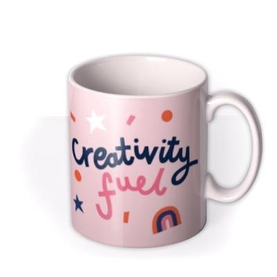 Artist Designer Creativity Fuel Rainbow Typographic Design Mug