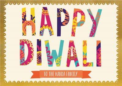 Personalised Diwali Card