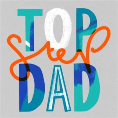 Top Step Dad Father's Day Card